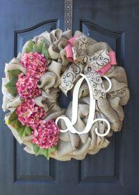 25+ best ideas about Burlap wreaths on Pinterest   Burlap ...