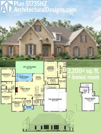 Plan 51735HZ: Flexible Southern Home Plan with Bonus Room ...