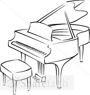 Grand pianos, Line drawings and Piano on Pinterest