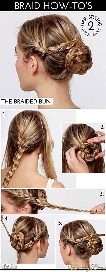 This would be a perfect updo for wedding or prom