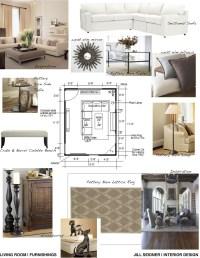Concept board for living room. | Jill Seidner Interior ...
