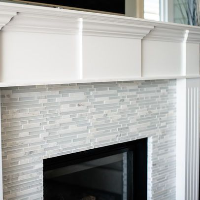 25 Best Ideas About Glass Tile Fireplace On Pinterest White