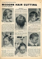 little boy's haircut 1940