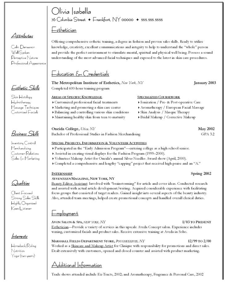Sample Resume For Psychology Graduate  httpwwwresumecareerinfosampleresumefor