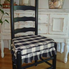 White Ladder Back Chairs Rush Seats Beach Chair With Shade Cover Mr And Mrs Vintage - Black Cream Buffalo Square Check Ulphostered ...