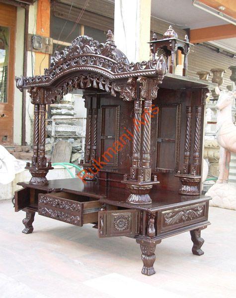 Code48 Wooden Carved Teakwood Temple  Mandir wooden Temple Wooden Temple  Mandir home indian