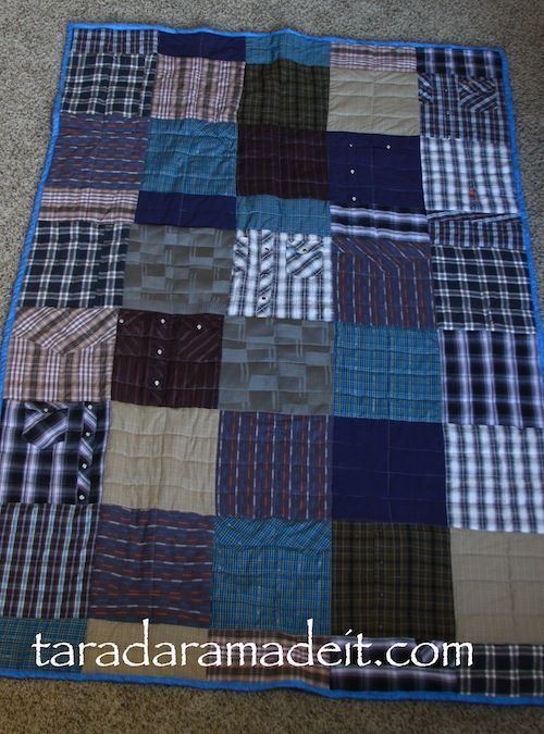I want to do this with my Grandpa's old shirts. You have to see what this quilter did on the underside of this quilt! Talk about