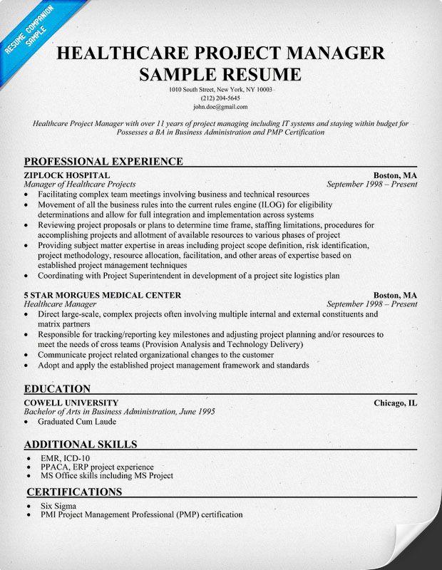 sample resume for healthcare jobs