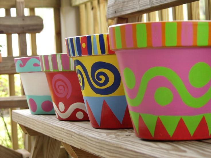 29 Best Images About Flower Pot Paint On Pinterest How To Paint