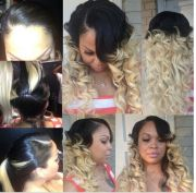 sew in cute curly ombred style
