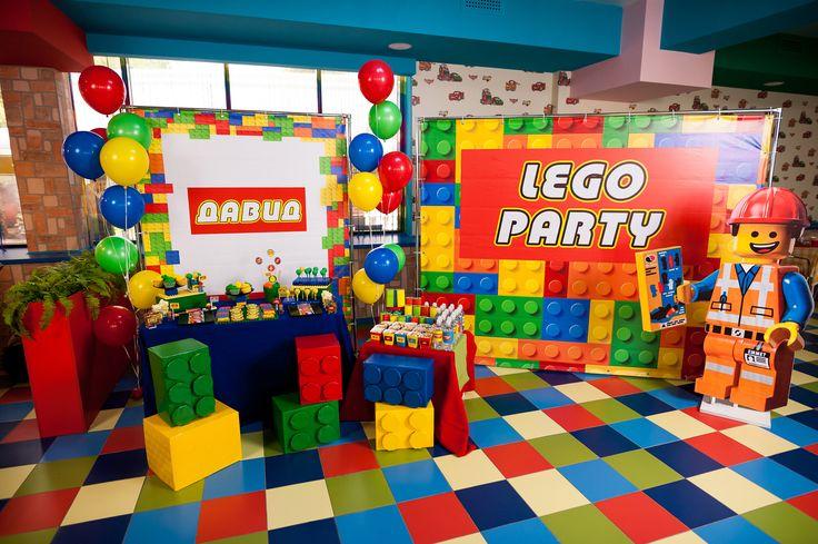 Lego party candy bar  Birthday party idea  Pinterest