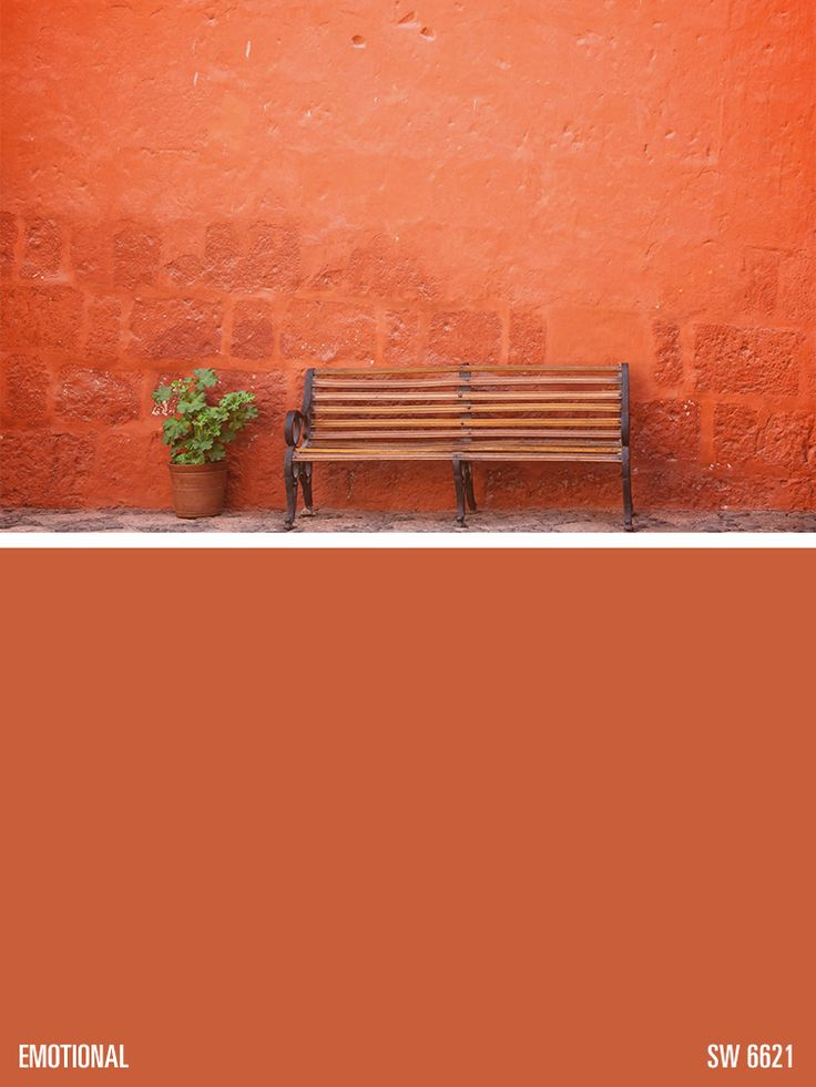 SherwinWilliams orange paint color  Emotional SW 6621
