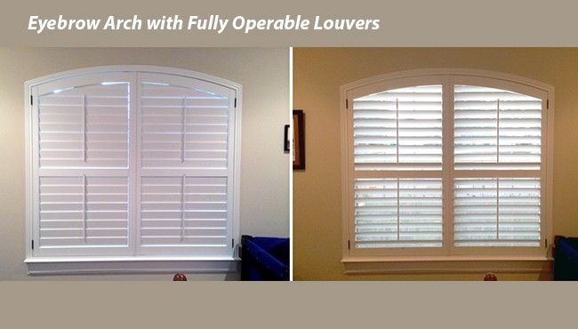 Eyebrow Arches Closed And Open Fully Operable Tilting Louvers Arched Window Experts Austin