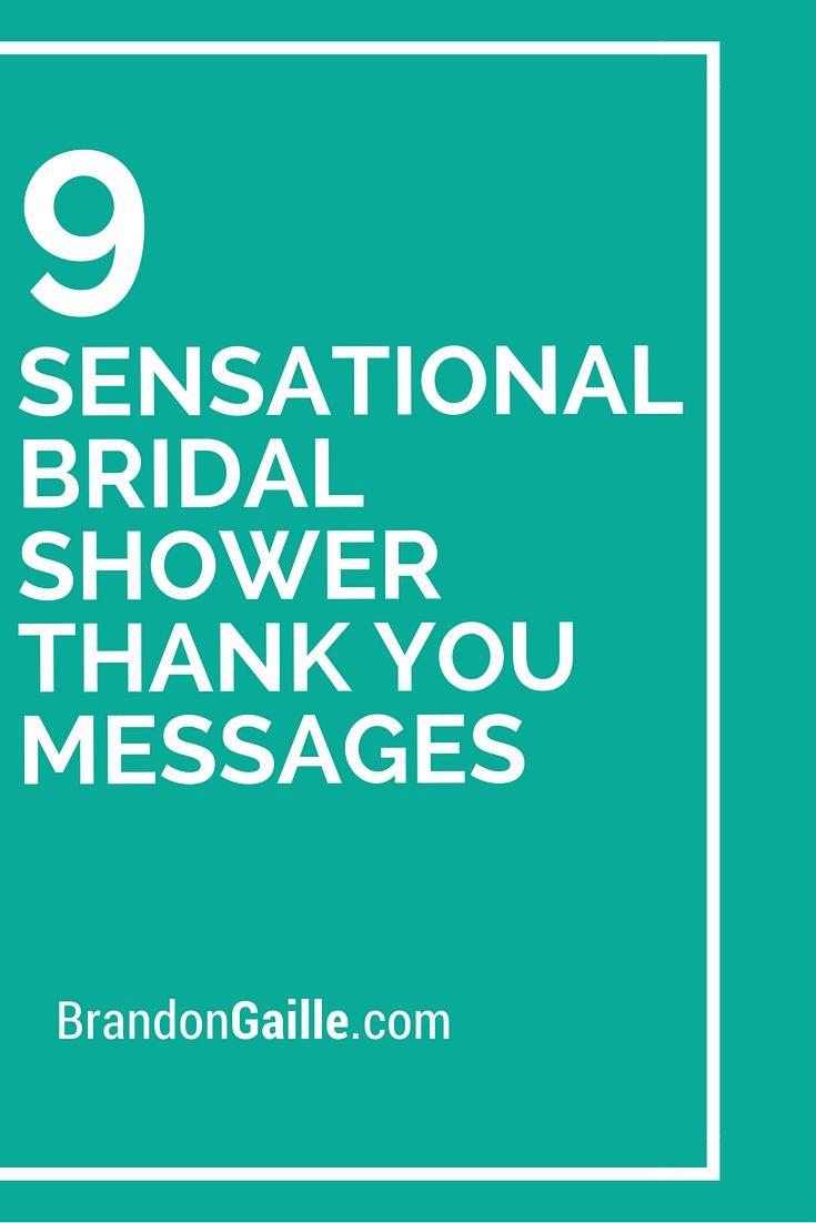 9 sensational bridal shower thank you messages messages