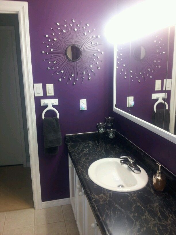 Purple bathroom  Things I redid  Pinterest