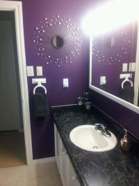 Purple bathroom | Western redo home with bling bathroom ...
