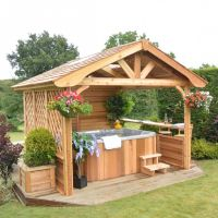 25+ best ideas about Hot Tub Gazebo on Pinterest | Hot tub ...