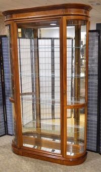 Curio Cabinet With Glass Doors pulaski platinum glass door ...