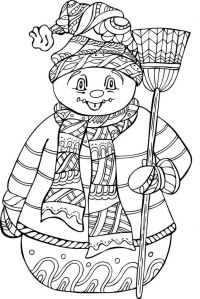Winter Coloring Pages For Adults - Web Sex Gallery