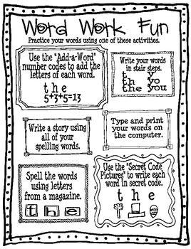 1000+ ideas about Spelling Homework on Pinterest