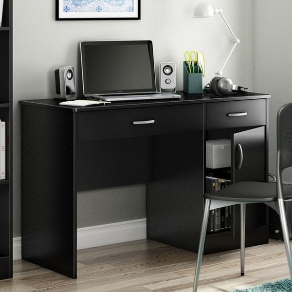 home office desk work Home Office Work Desk in Black Finish | On, Or and Home office