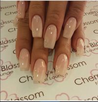 Neutral color acrylic square shaped | Gorgeous Nails By ...