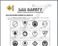 Lab Safety - Review Worksheets | Safety! | Pinterest | Lab ...