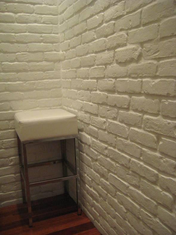 White Brick Wall at MBCo  Brick paneling Faux brick walls and Bricks