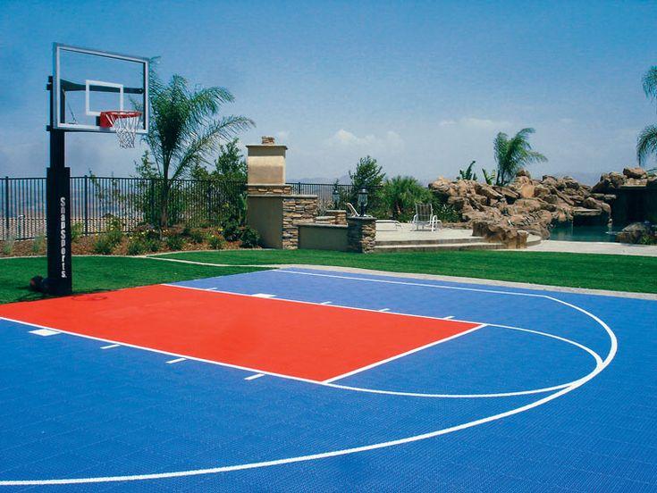 Outdoor Basketball Court  Home  Backyard Basketball