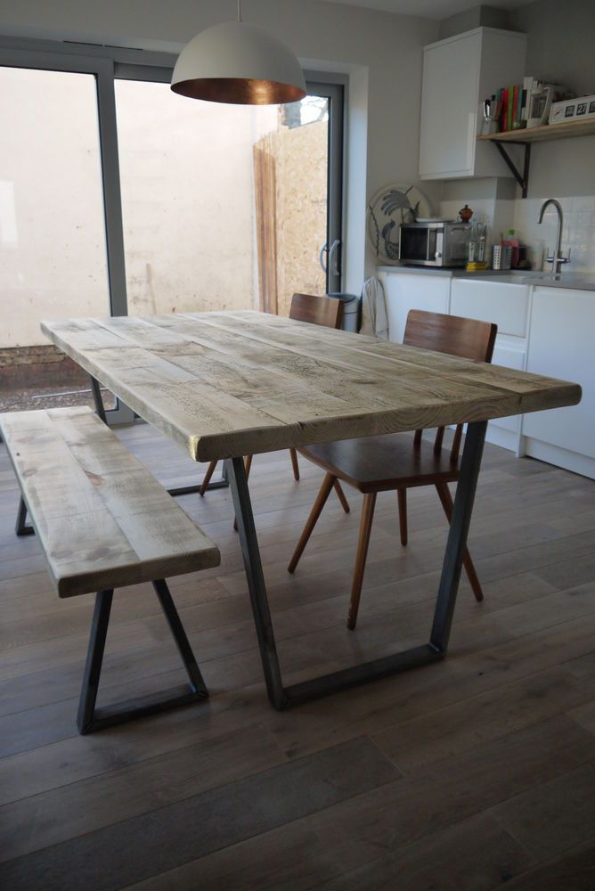 25 Best Ideas About Industrial Dining Tables On Pinterest
