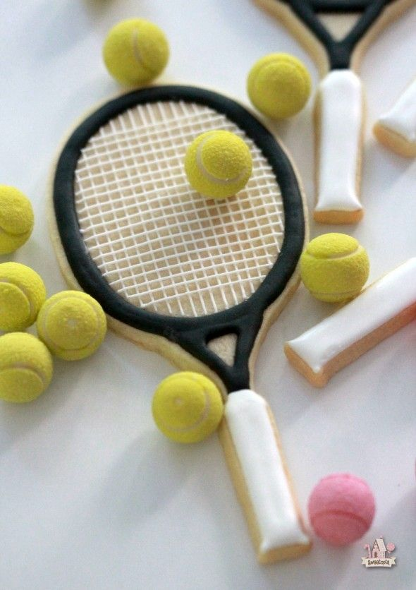 Tennis Racket Cookie How To  Sweetopia  Holiday Sweets