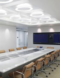 conference room with Herman miller Eames soft pad chairs ...