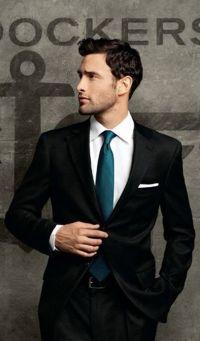 Black suit, turquoise tie | Wedding Ideas | Pinterest ...