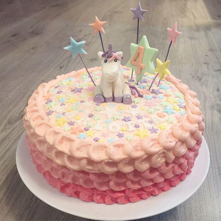 Einhorn Geburtstagstorte Birthdaycake Fondant Unicorn
