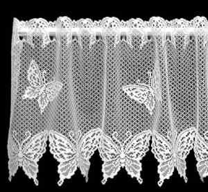 Heritage Lace White BUTTERFLIES Window Valance Filet Crochet Pinterest White Butterfly