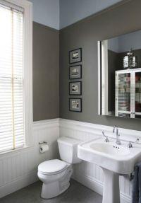 wainscoting bathroom | Tiny Attic Bathroom Remodel | Pinterest