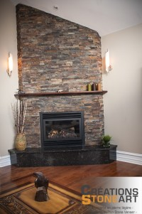 Fireplace done with Terracotta Ledgestone from Realstone ...