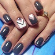 grey nail design ideas