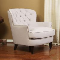 Christopher Knight Home Tafton Tufted Natural Fabric Club ...