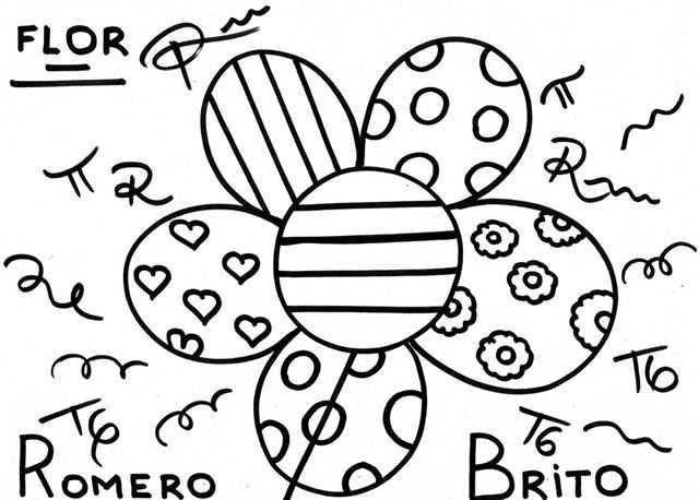 Romero Britto Coloriages Romero Britto Coloriage