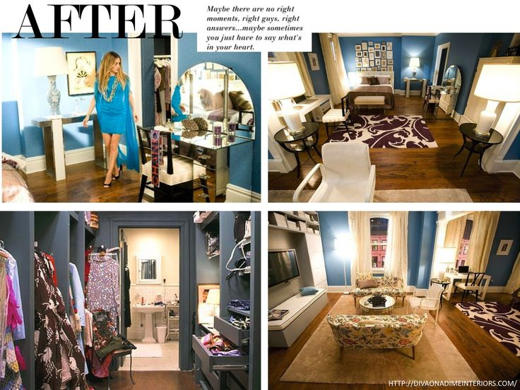 Carrie Bradshaws apt after remodelling  Interiors  Pinterest  Nyc Home and The ojays
