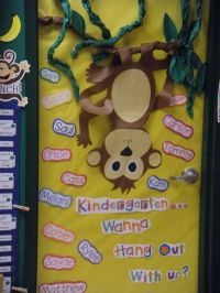 Monkey Theme Classroom | our door welcome to kindergarten ...