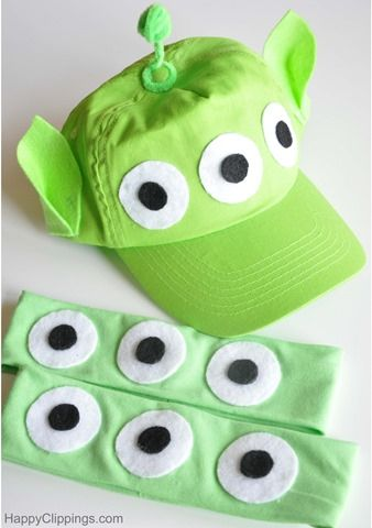 Diykidstoystoryaliencostumeeyes Toy Story Alien Costumealien. Best 25 Alien Costumes Ideas ... & diy alien costume for kids | Poemsrom.co