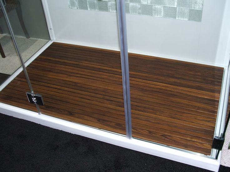 Custom Teak Mat for WalkinShower  The Bath  Pinterest