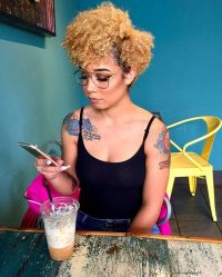 10+ best ideas about Colored Natural Hair on Pinterest