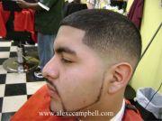 blended fade haircut black
