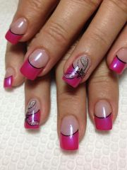 lechat gel pink tip nails