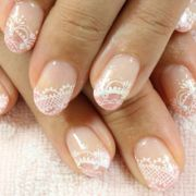 lace wedding nails ideas