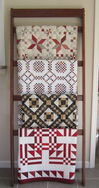Free Ladder Quilt Rack Plans - WoodWorking Projects & Plans