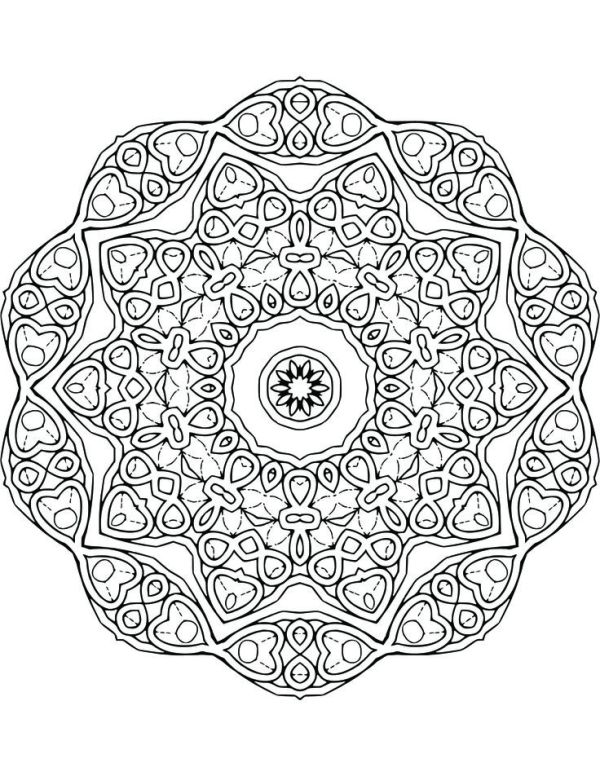 109 best images about Mandala Coloring Pages on Pinterest